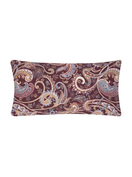 Baumwoll-Kopfkissenbezüge Liana in Bordeaux mit Paisley-Muster, 2 Stück, Webart: Renforcé Fadendichte 144 , Bordeaux, 40 x 80 cm