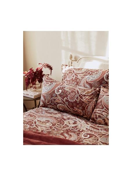 Poszewka na poduszkę z bawełny Liana, 2 szt., Bordowy, S 40 x D 80 cm