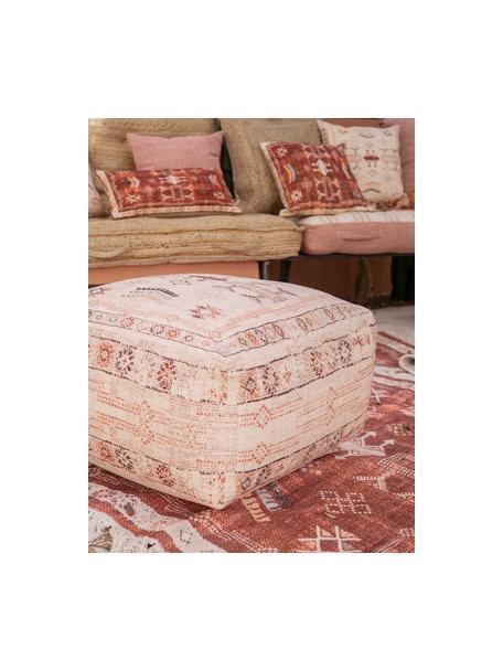 Boho-Kissenhülle Tanger in Rot/Weiß, 100% Baumwolle, Rot, Beige, 30 x 60 cm