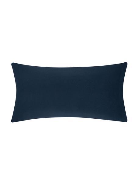 Poszewka na poduszkę z flaneli Biba, 2 szt., Marynarski granat, S 40 x D 80 cm