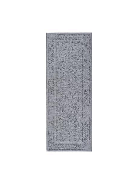 In- & Outdoor-Läufer Orient im Vintage Style, 100% Polypropylen, Grautöne, 77 x 200 cm
