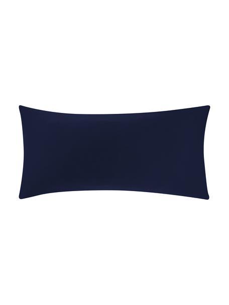 Poszewka na poduszkę z satyny bawełnianej Comfort, 2 szt., Ciemnyniebieski, S 40 x D 80 cm