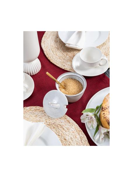 Handgemaakte suikerpot Nordic Sand van keramiek, Keramiek, Zandkleurig, Ø 10 x H 7 cm