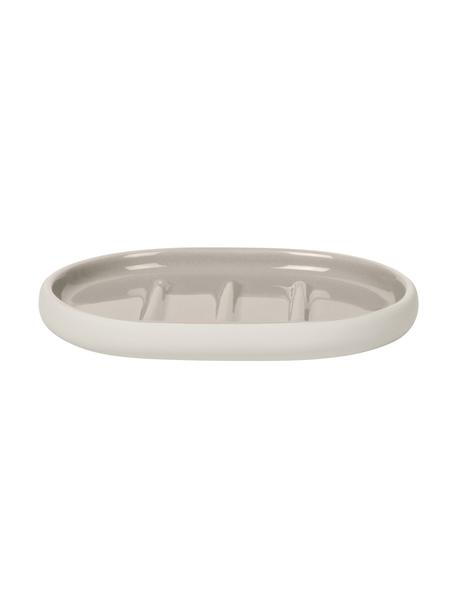 Portasapone in ceramica Sono, Ceramica, Beige, Larg. 13 x Alt. 2 cm