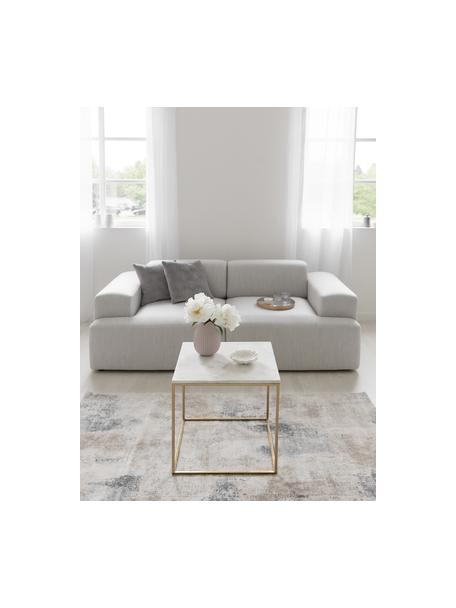 Sofá Melva (3plazas), Tapizado: 100%poliéster Alta resis, Estructura: madera de pino maciza, ce, Patas: plástico, Tejido gris claro, An 238 x F 101 cm