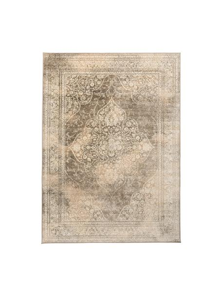 Vintage Teppich Rugged in Beigetönen, 66% Viskose, 25% Baumwolle, 9% Polyester, Beige, Braun, B 200 x L 300 cm (Größe L)