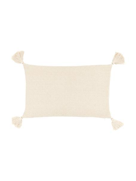 Federa arredo beige con nappe decorative Lori, 100% cotone, Beige, Larg. 30 x Lung. 50 cm