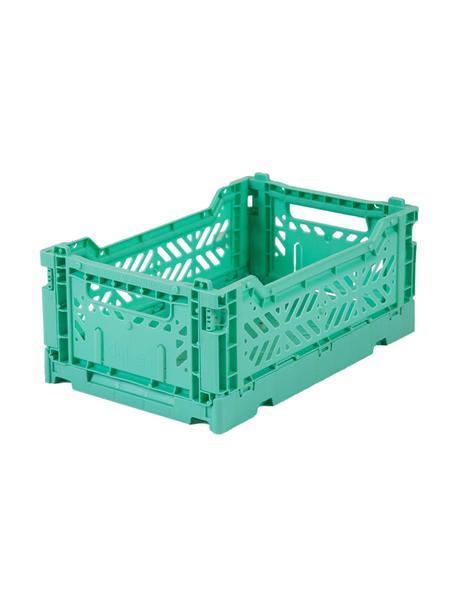 Klappbox Mint, stapelbar, klein, Recycelter Kunststoff, Mintgrün, 27 x 11 cm