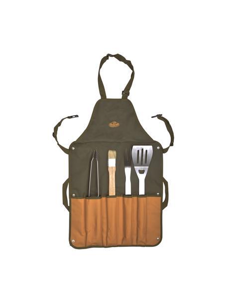 Barbecueset Bob, 5-delig, Groen, bruin, 65 x 88 cm