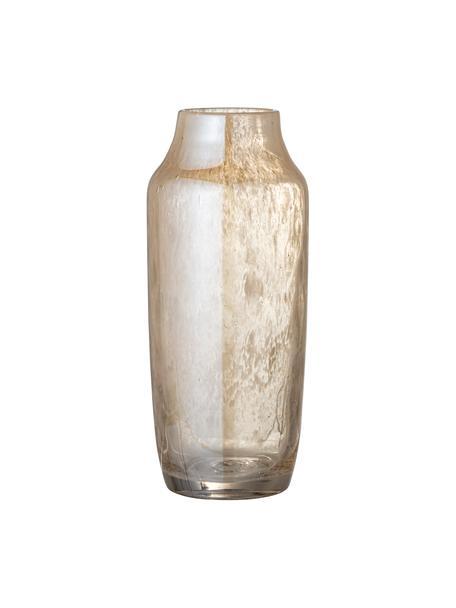Glazen vaas Anetta in beige, Glas, Beige, transparant, Ø 13 x H 31 cm