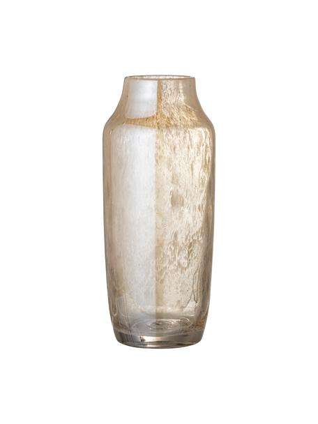Vaso in vetro giallo Anetta, Vetro, Beige trasparente, Ø 13 x Alt. 31 cm