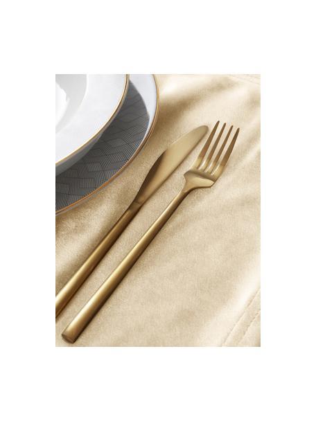 Samt-Tischsets Simone in Gold, 2 Stück, 100% Polyestersamt, Hellgelb, 35 x 45 cm