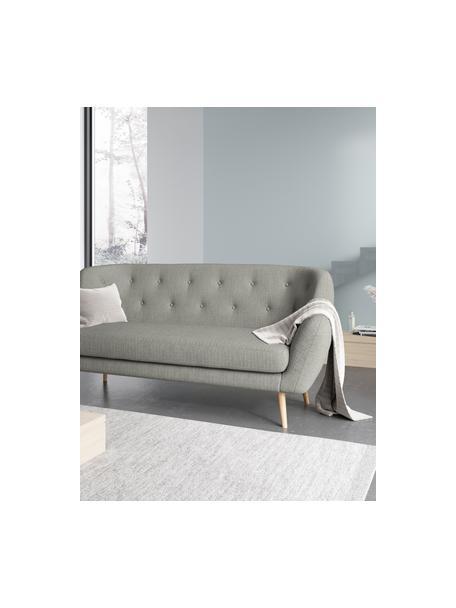Divano 3 posti in tessuto grigio chiaro Mica, Rivestimento: poliestere con tatto di l, Grigio chiaro, Larg. 192 x Prof. 84 cm