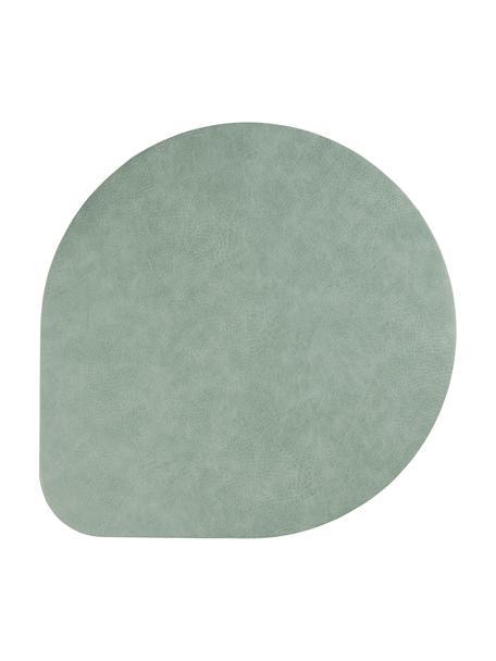 Podkładka ze sztucznej skóry Povac, 2 szt., Tworzywo sztuczne (PVC), Zielony miętowy, Ø 37 cm