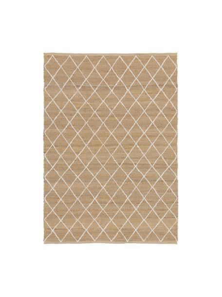 Handgefertigter Jute-Teppich Kunu, 100% Jute, Beige, B 120 x L 180 cm (Größe S)