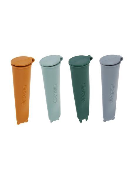 Set 4 stampi per ghiaccio Elisa, 100% silicone, Grigio, verde, verde salvia, arancione, Ø 4 x Alt. 15 cm ciascuno