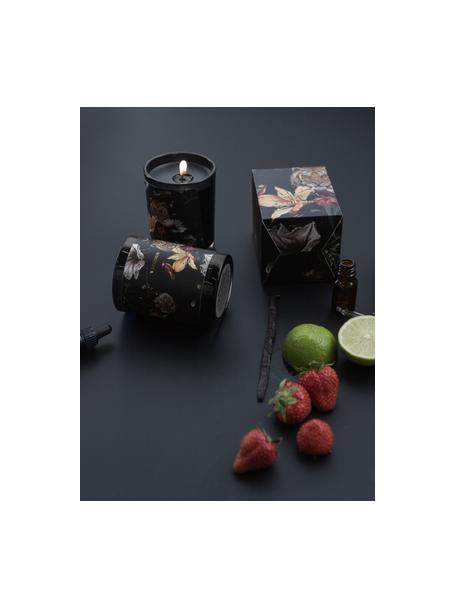Candela profumata Wilderness (Ananas, frutto della passione), Contenitore: vetro, Nero, Ø 8 x A 10 cm