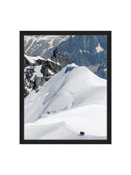 Oprawiony druk cyfrowy The Ice Caps And Mountains, Wielobarwny, S 43 x W 53 cm