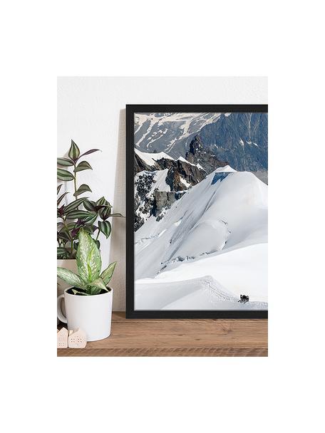 Ingelijste digitale print The Ice Caps And Mountains, Afbeelding: digitale print op papier,, Lijst: gelakt hout, Multicolour, 43 x 53 cm