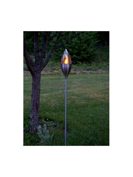 Lampada solare Olympos, Paralume: materiale sintetico, Acciaio, trasparente, Ø 9 x Alt. 115 cm