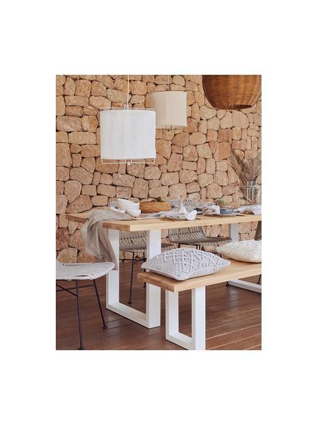 Banco de madera maciza Oliver, Asiento: tableros de madera de rob, Patas: metal con pintura en polv, Roble natural, An 180 x Al 45 cm