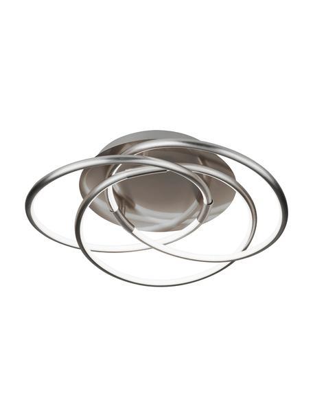 Design LED plafondlamp Magic, Baldakijn: geborsteld aluminium, Diffuser: kunststof, Aluminium, Ø 48 x H 22 cm