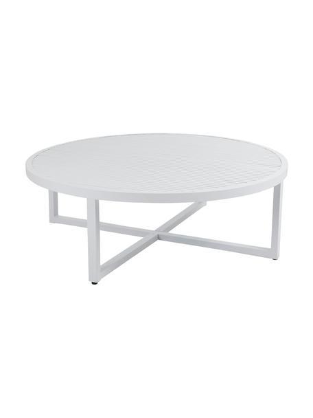 Ogrodowy stolik kawowy Vevi, Aluminium malowane proszkowo, Biały, Ø 100 x W 40 cm