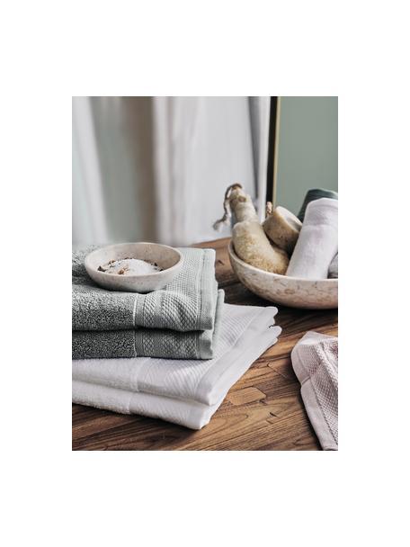 Toalla con cenefa clásica Premium, diferentes tamaños, 100%algodón Gramaje superior 600g/m², Gris oscuro, Toallas tocador
