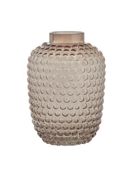 Mundgeblasene Glas-Vase Dorinia, Glas, Braun, transparent, Ø 18 cm
