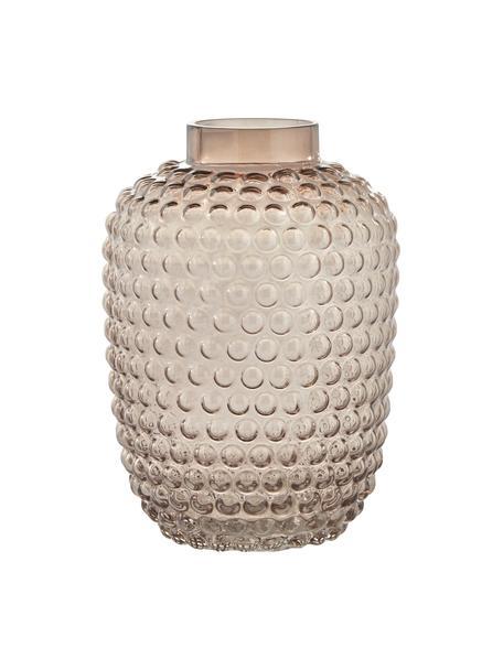 Vaso di design in vetro soffiato Dorinia, Vetro, Marrone trasparente, Ø 18 cm