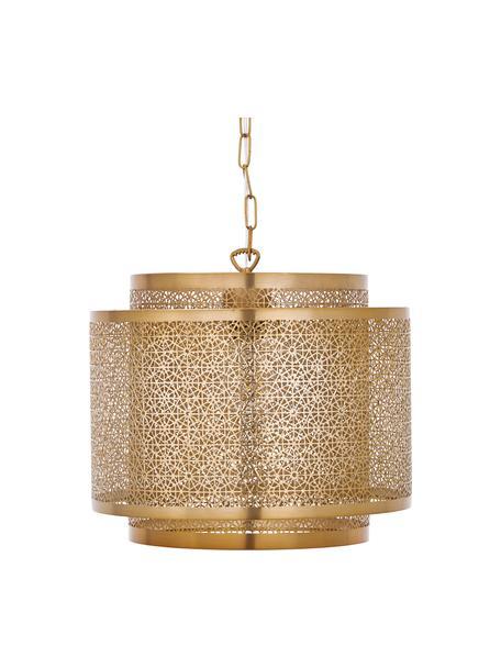 Lampa wisząca z metalu w stylu boho Hermine, Mosiądz, matowy, Ø 35 x W 28 cm