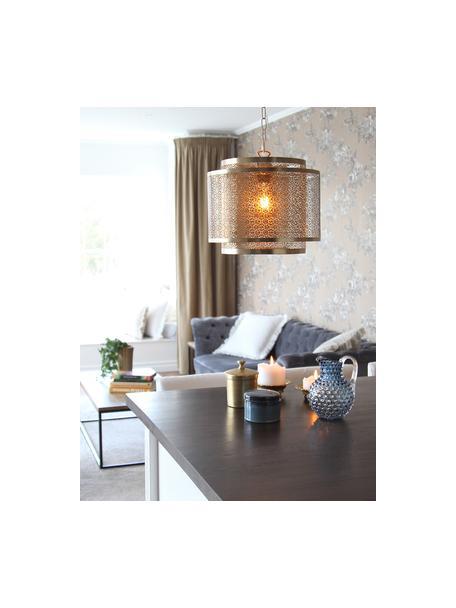 Lámpara de techo Hermine, Pantalla: latón, Estructura: latón, Anclaje: latón, Latón mate, Ø 35 x Al 28 cm
