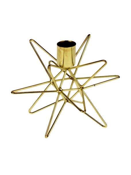 Kandelaar Cosma, Gelakt metaal, Messingkleurig, Ø 15 x H 11 cm