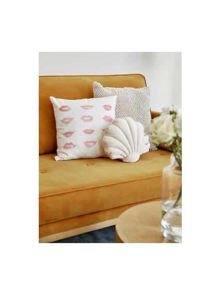 Designer Kissenhülle Sketchy von Kera Till, 100% Baumwolle, Weiss, Rot, 40 x 40 cm