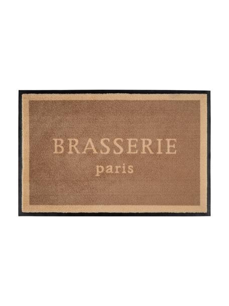 Zmywalna wycieraczka z poliamidu Brasserie, Brązowy, beżowy, S 50 x D 75 cm