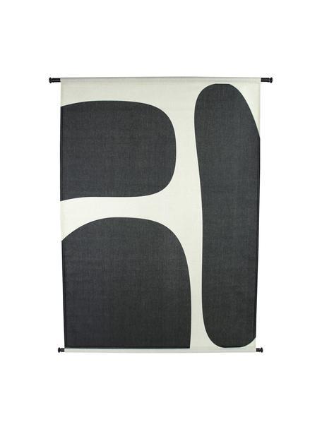 Wandobjekt Organic, Leinwand, Kunststoff, Schwarz, Weiß, 105 x 136 cm