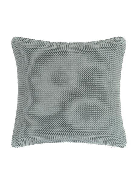 Poszewka na poduszkę z dzianiny Adalyn, 100% bawełna, Szałwiowa zieleń, S 40 x D 40 cm