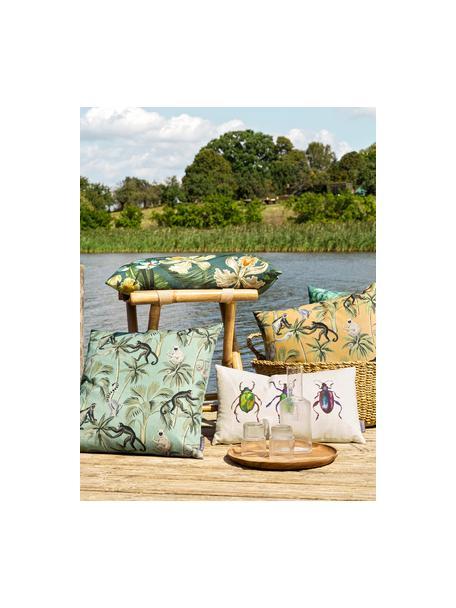 Dwustronna poszewka na poduszkę Backwoods, 85% bawełna, 15% len, Zielony, brązowy, beżowy, S 50 x D 50 cm