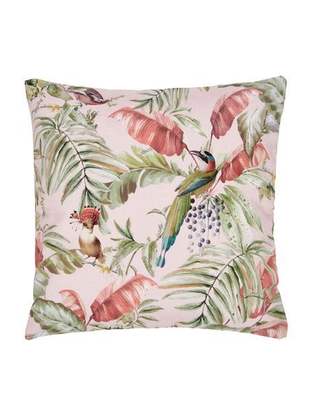 Kissenhülle Bahama mit tropischem Print, 100% Baumwolle, Mehrfarbig, 45 x 45 cm