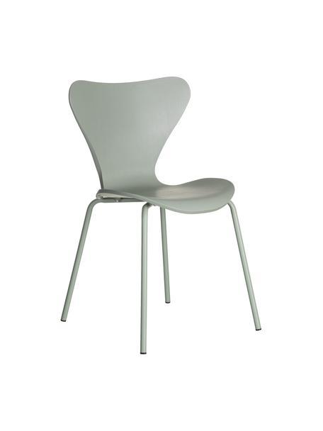 Kunststoffen stoelen Pippi, 2 stuks, Polypropyleen, metaal, Mintgroen, B 47 x D 50 cm