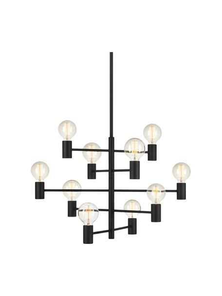 Żyrandol Paris, Lampa: czarny Kabel: transparentny, Ø 80 cm