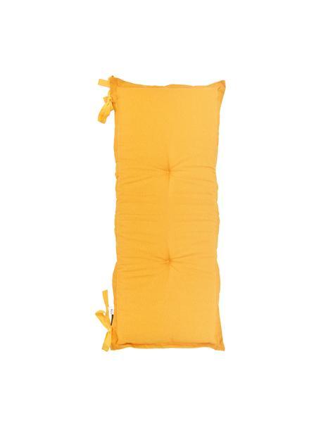 Einfarbige Bankauflage Panama in Gelb, 50% Baumwolle, 45% Polyester, 5% andere Fasern, Gelb, 48 x 150 cm