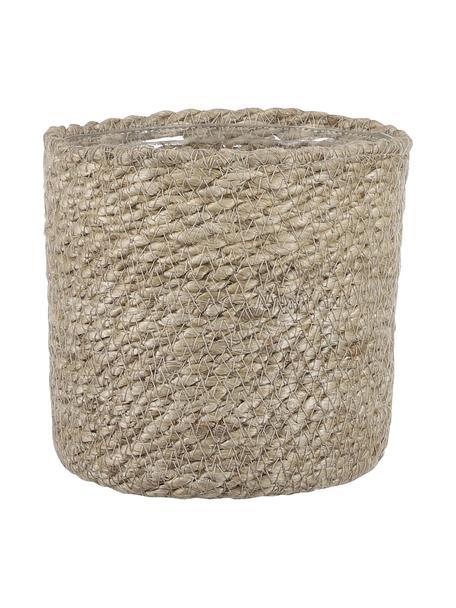 Macetero pequeño Atlantic, con bolsa de plástico, Yute, Yute, Ø 14 x Al 14 cm