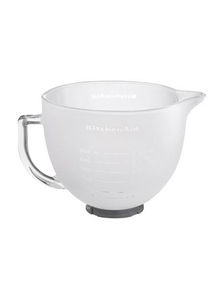 Ciotola in vetro per robot da cucina Artisan, Vetro smerigliato, coperchio del silicone, Bianco, 4.8 l