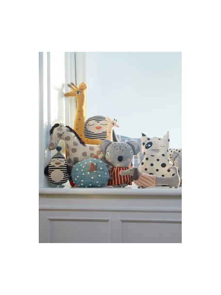Knuffelkussen Bob, Katoen, Gebroken wit, zwart, mintgroen, oranje, 18 x 26 cm