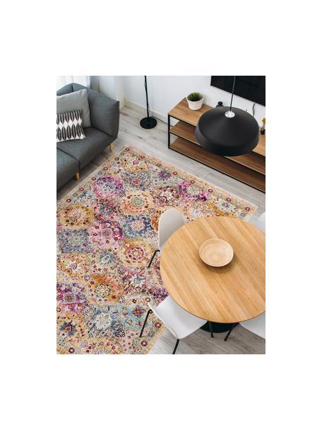 Niederflor-Teppich Sunita mit bunten Ornamenten, Flor: 100% Polypropylen, Mehrfarbig, B 120 x L 170 cm (Größe S)