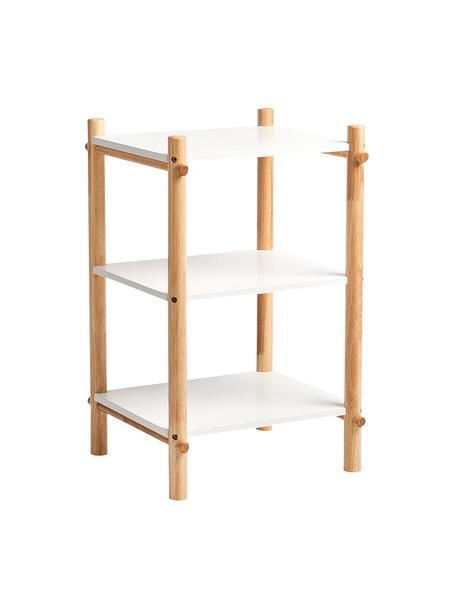 Regał do pokoju dziecięcego Loko, Stelaż: drewno sosnowe z powłoką , Biały, beżowy, S 36 x W 59 cm
