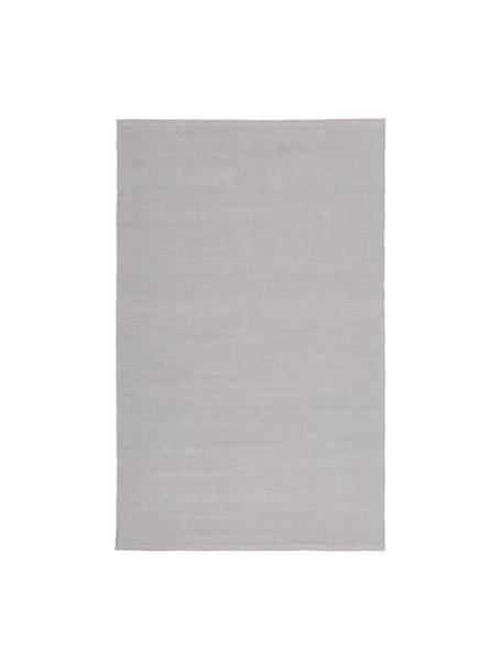 Dun handgeweven katoenen vloerkleed Agneta, 100% katoen, Grijs, B 50 x L 80 cm (maat XXS)