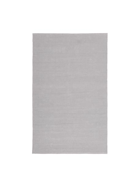 Dünner Baumwollteppich Agneta in Grau, handgewebt, 100% Baumwolle, Grau, B 50 x L 80 cm (Größe XXS)