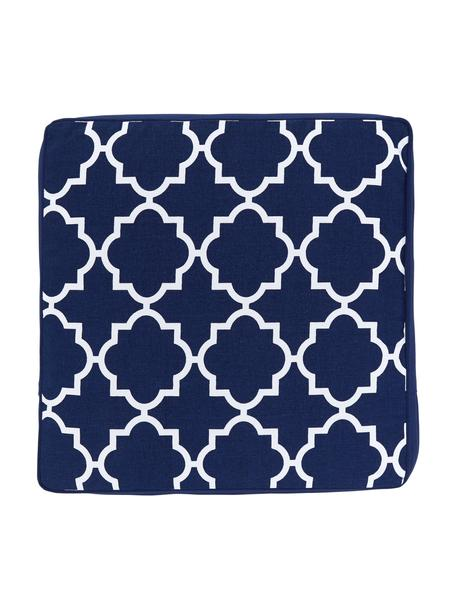 Cojín de asiento alto Lana, Funda: 100%algodón, Azul, An 40 x L 40 cm